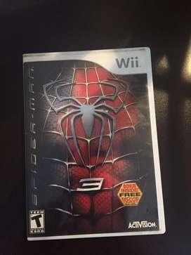 Juego Spider man Wii