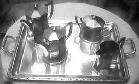 Juego de Té y Café en plata Toledo sellada