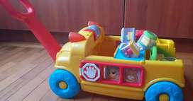 BUS FISHER-PRICE MUSICAL CON 8 CUBOS DIDACTICOS