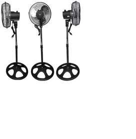 Ventilador Abanico Metálico Adaptable Oscilante 3 En 1 Piso