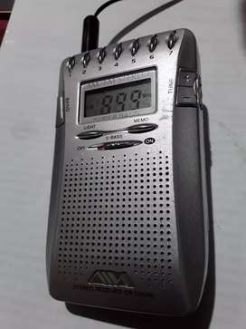Radio digital aiwa original am fm memorias de 10x6x2 cm CR DS 556