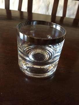 6 Vasos de Whisky con Virola de Plata