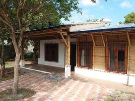 Vendo casa ecologica con 800m2 de terreno en Tachina