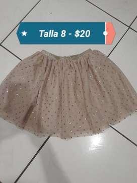 Linda Falda de Niña Talla 8