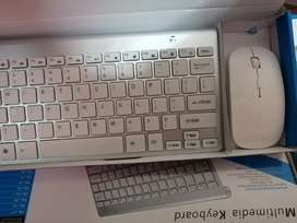 Teclado y mouse inalambrico tipo mac