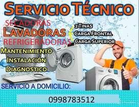 Técnico en mantenimiento de lavadoras, refrigeradoras, secadoras, calefones.