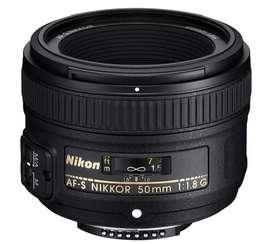 Nikon 50mm f1.8 G con Parasol, Funda y Caja