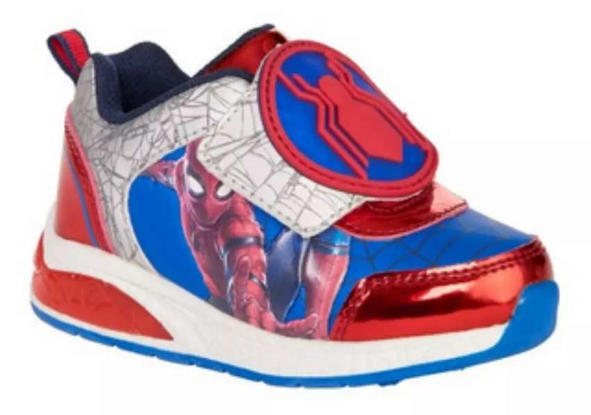 Zapatillas spiderman que alumbran al caminar originales 0