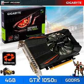Tarjeta de Video Gigabyte GTX 1050ti 4GB DDR5 - HDMI DVI DP