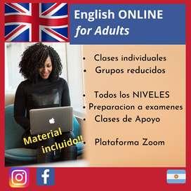 Clases ONLINE de INGLES para Adultos