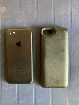 iPhone 7 color black mate de 128gb más mophie