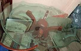Mesa comedor en vidrio tallado22