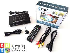 Decodificador TDT receptor TV digital T2 antena  HDMI