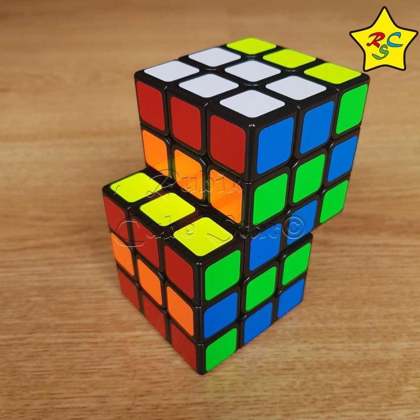Cubo Rubik Siamés Modificado 3x3 Shengshou Negro