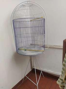 Jaula con base para aves