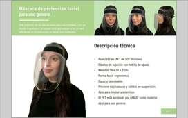 Mascaras Protectoras Faciales Pet 500 micrones