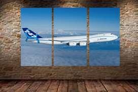 cuadro en vinilo estilo avion