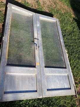 Puerta Doble Aluminio 2mm de Espesor