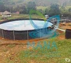 Tanques en geomembrana para cría de peces