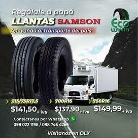 LLANTAS SAMSON:   700R16 -  215/75R17.5 - 750R16