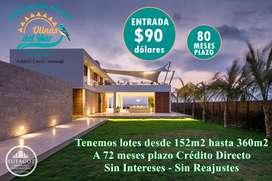 CON 90USD DE ENTRADA LOTES URBANIZADOS / CRÉDITO Y FINANCIAMIENTO DIRECTO / SD3