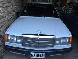 Mercedes Benz 190D 1990, blanco. Único!
