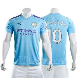 Camiseta Original Manchester City 19-20 G.jesus, Kun Aguero futbol 2019 2020