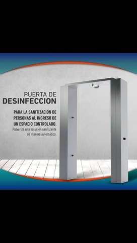 Puerta desinfectante