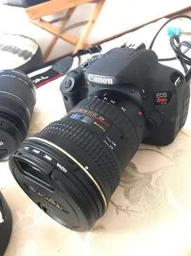 Canon T5i +Canon 50mm+Canon 55-250+Tokina 12-24mm