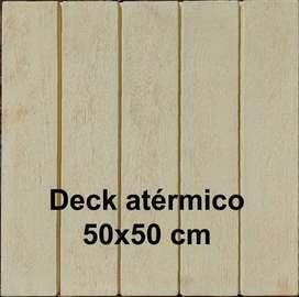 Deck atérmico simil madera 50x50 cm ideal solarium o bordes de Piscinas