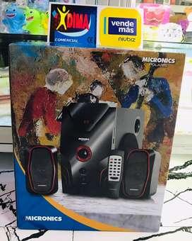 PARLANTE MICRONICS POLARIS Y ROMANCE 70W BLUETOOTH USB RADIO IMPORTADOR DIMA