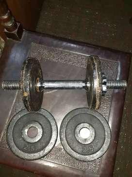 Mancuerna 10 kilos acero y hierro
