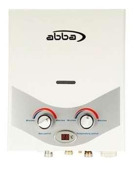 Calentador de Paso ABBA Gas natural 5 Litros tiro natural Blanco