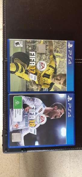 Fifa 17 y 18 para PS4