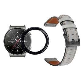 Vidrio Templado Cerámico Y Correa de cuero Smartwatch Reloj Inteligente Huawei GT2 PRO