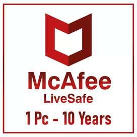 McAfee Livesafe Antivirus - 10 Años