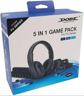 Juego Combo DOBE PS4 5 en 1 Incluye Auriculares Estéreo Con Micrófono