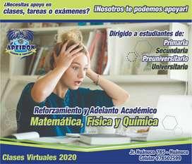 """Reforzamiento y Adelanto Escolar """"Matemática, Física y Química"""""""