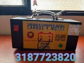 Cargadores restauradores de baterias para carros y motos