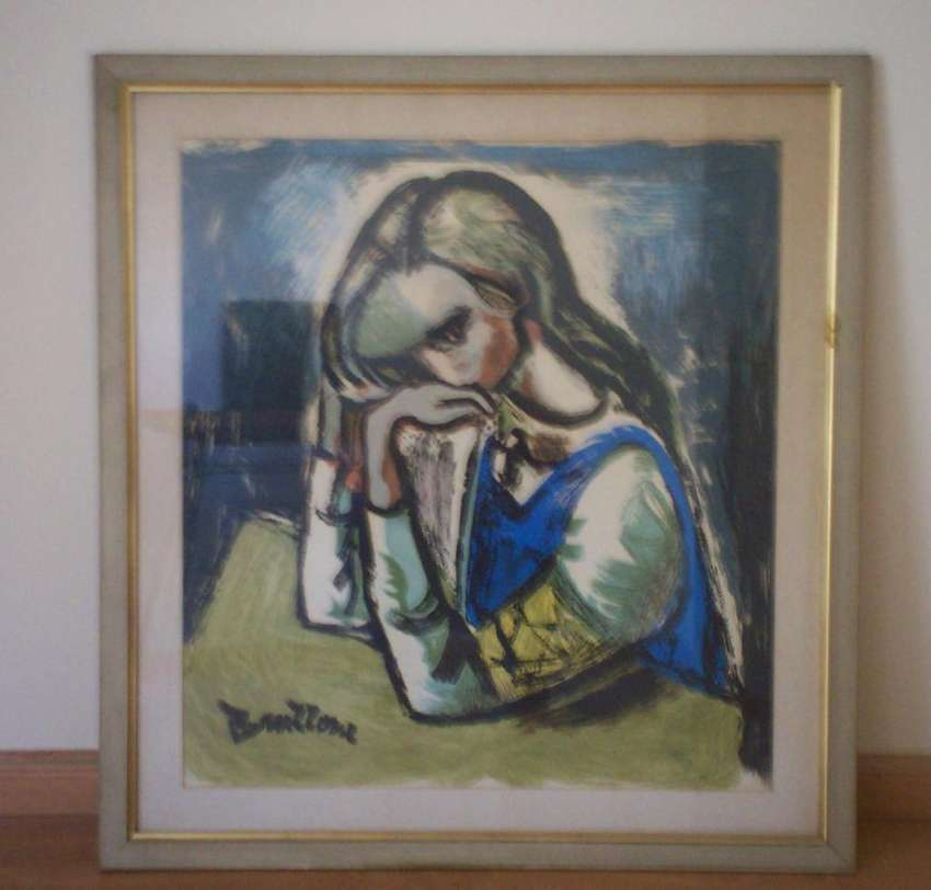 Cuadro Anna Frank de Bruzzone, Enmarcado 0