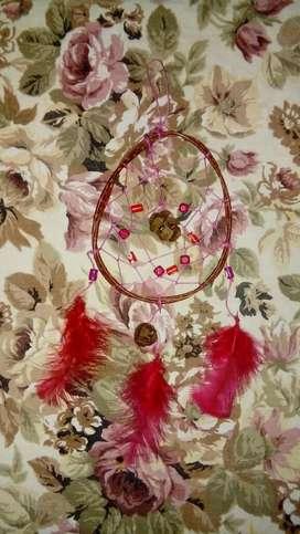 Atrapasueños piña Plumas Rosas