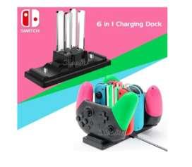 Cargador 6 en 1 Para Nintendo Switch
