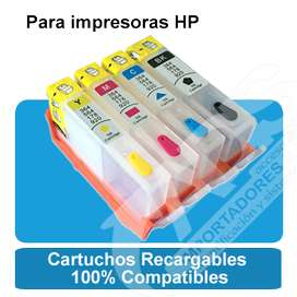 4 Cartuchos Recargables HP670 HP920 564 B210 240ml Tinta