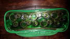 Cartuchera Verde Transparente