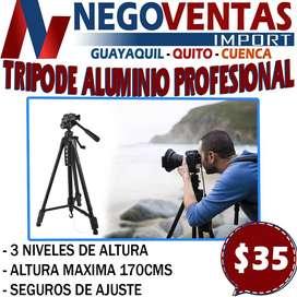 TRIPODE ALUMINIO PROFESIONAL DE 170CMS EN DESCUENTO EXCLUSIVO DE NEGOVENTAS