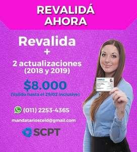 REVALIDA Y  2 ACTUALIZACIONES DE TU MATRICULA NACIONAL Y OFICIAL