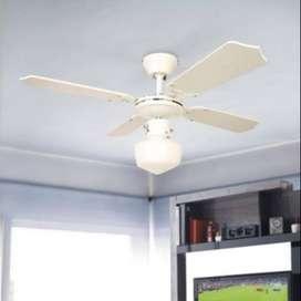 Ventilador de techo 4 aspas con Luz Potente Reversible 36'' Home Collection Dual colors Nuevos sellados Garantizados
