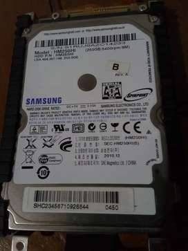Disco Rigido 2.5 Samsung 250gb netbook