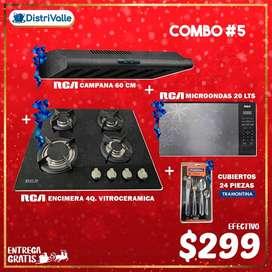 "ENCIMERA-CAMPANA-MICROONDAS RCA ""SUPER COMBO NAVIDEÑO"""
