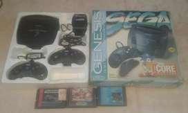 Sega con 3 cartucho